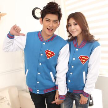 情侣超人衣服_小爸爸同款文章于果超人衣服外套男女式情侣