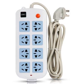 得力(deli)3996 新国标8位总控电源插座/插排/插线板/拖线板 2.8米