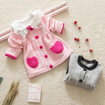 添心新款宝宝长袖线衣毛衣儿童毛衣纯棉线线衣女童偏
