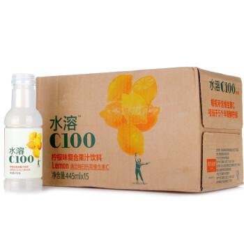 农夫山泉 水溶C100柠檬饮料445ml*15瓶 整箱