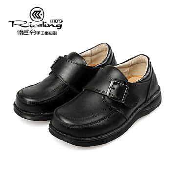 童鞋男童黑色皮鞋