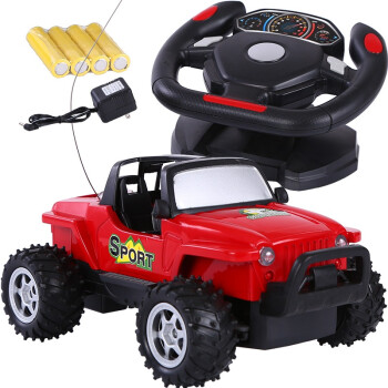 碟中碟 方向盘遥控充电越野车 儿童玩具配送电池BB641 红色¥54