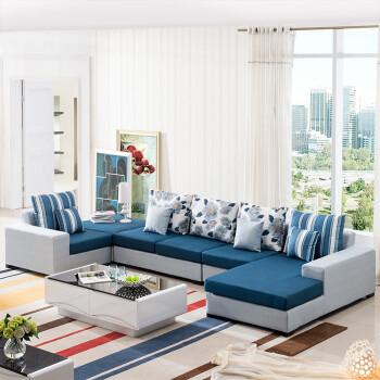 圣罗伦 沙发 布艺沙发 客厅沙发 左贵妃整套图片