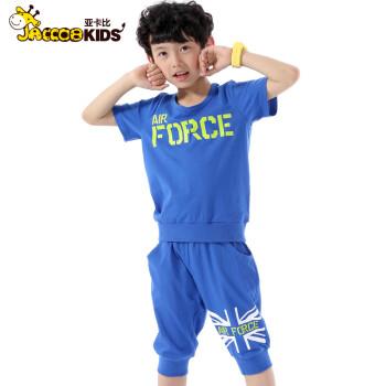 童装男童夏装2014新款儿童运动套装潮短袖裤大童男装夏季小孩衣服