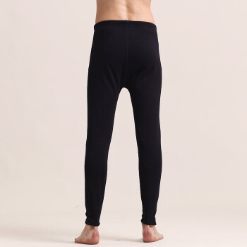 七匹狼保暖裤 男士加厚贴片保暖单裤男士紧身加厚秋裤 藏青 XL