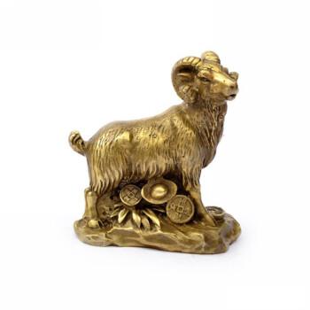 求福阁开光纯铜十二生肖羊风水摆件工艺品家居摆件防灾补缺角开运