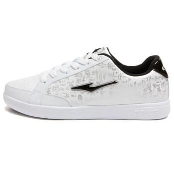 鸿星尔克运动鞋男板鞋男鞋2015年春季新款韩版潮男白色休闲鞋学生旅游滑板鞋男款 正白/正黑 42