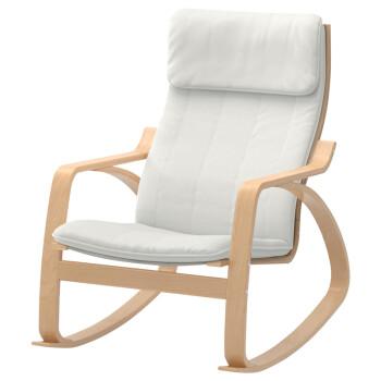 od 单人休闲摇椅实木曲木工艺家具A002 白色摇椅