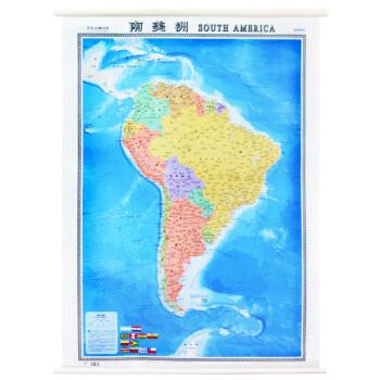 南美洲地图挂图 1.2米x0