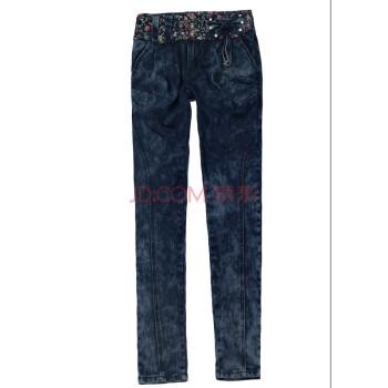 脚裤 蝴蝶结 牛仔裤