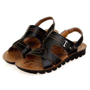 3515强人夏季新款男士沙滩鞋优质真皮男凉鞋xd418108