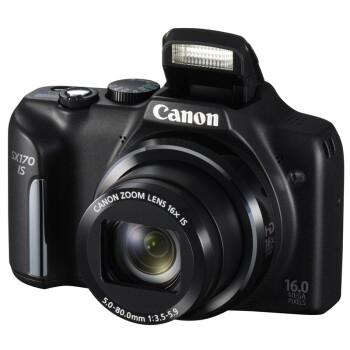 佳能(Canon) PowerShot SX170 IS 数码相机 黑色(1600万像素 3英寸屏 16倍光学变焦 28mm广角)