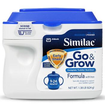 无需海淘, Similac Go & Grow Milk Based Formula 婴幼儿金盾624g二段9-24个月 ¥199  买五赠一