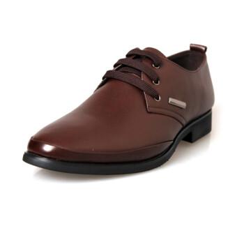 士时尚舒适系带绅士鞋
