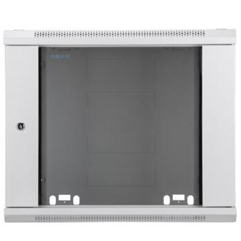 图腾(TOTEN) WM.6406 标准19英寸小机柜 600*450*368(6U) 钢化玻璃前门 灰白色RAL7035