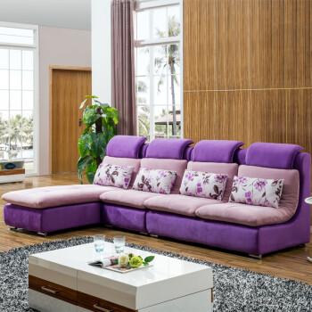 圣罗伦 沙发 布艺沙发 组合沙发简约现代客厅沙发转角沙发 布沙发 左贵图片