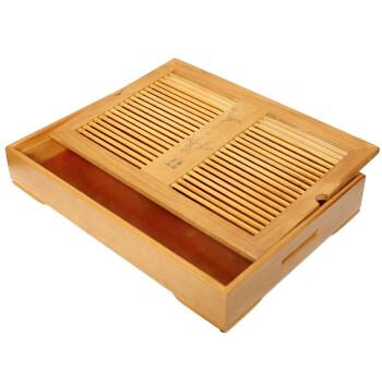 郑品  茶具实木 镂空雕花 抽屉式茶盘 环保天然 储水式 茶道配件CP537053 小号