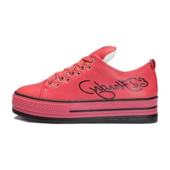 学生休闲鞋板鞋子 红色
