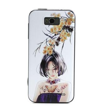 1s m1手机保护套 配件 手机壳 外壳 纹身女孩 迎春花