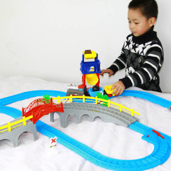 小小铁道工火车轨道 儿童玩具拼接式软轨