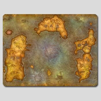 魔兽世界 艾泽拉斯大陆地图