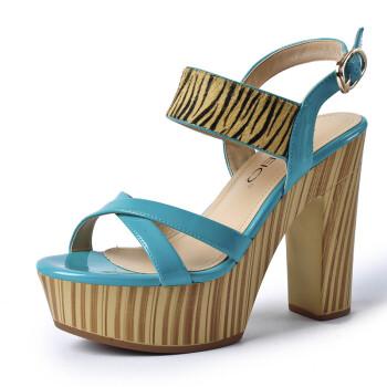 gemeiq戈美其2013女凉鞋防水台厚底韩版高跟粗跟女