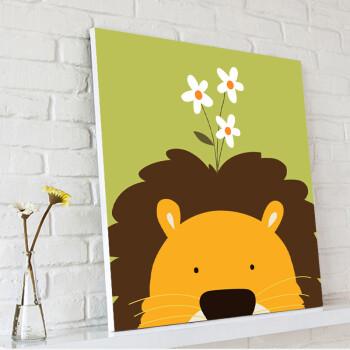 视觉星儿童房装饰画电表箱挂画壁画无框画立体画沙发背景墙画动物总