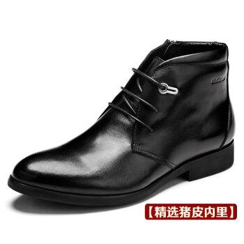 英伦潮流马丁靴男士真皮靴子男靴韩版高帮皮鞋男鞋