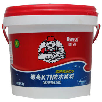 德高k11防水浆料柔韧ii型4.2kg(高级家庭防水)-德高图片