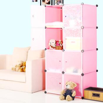 蔻丝 组合式衣柜 折叠韩式宜家简易衣橱宝宝儿童便携式衣柜76X47X
