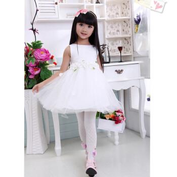 儿童白色公主裙子