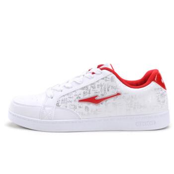 鸿星尔克运动鞋男板鞋男鞋2015年春季新款韩版潮男白色休闲鞋学生旅游滑板鞋男款 白红 42