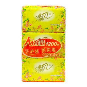 APP 清风 抽取式面纸 花韵 200抽3包迷你型 9元(可买4免1 约6.75元/提)