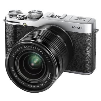 富士(FUJIFILM) X-M1 (16-50+50-230mm双套头 银色)可换镜头 APS-C CMOS 1600万像素 3.0英寸翻折屏 Wi-Fi