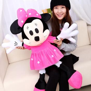 毛绒玩具米奇米妮公仔米老鼠大号情侣洋娃娃可爱抱枕圣诞节儿童生日图片