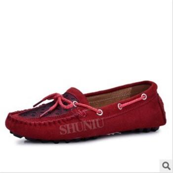 休闲鞋透气真皮英伦流行韩版驾车帆船鞋磨砂皮鞋