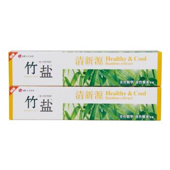 LG竹盐 清新源 牙膏 150g×2 (清竹雅香)(青竹竹精华 清竹雅香)