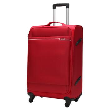 卡拉羊(Carany) CS8366-20深红 大容量万向轮男女20吋拉杆箱 可登机铝合金拉杆静音轮