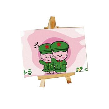 diy数字油画手绘儿童卡通迷你画小破孩