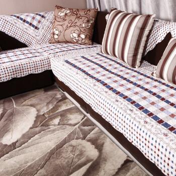 布艺纯棉防滑沙发垫套装 坐垫 出口田园坐垫 椅垫座垫沙发垫子 粉红