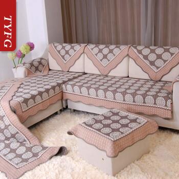 沙发垫纯棉防滑沙发坐垫 罩 巾 套 夏用 有套装 古香古色 大L型沙发垫