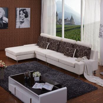 天坛家具 天坛沙发 布艺沙发 时尚转角沙发 左贵妃 单人位 右双联图片