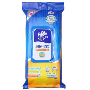 维达 厨房湿巾 25片装
