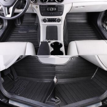 途睿 全包围横纹款汽车脚垫 起亚车系专用 魔力黑 起亚K3高清图片