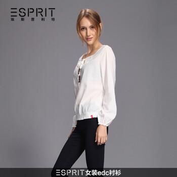 ESPRIT女装edc衬衫HE0320F 白色 M 36 160 84A图片