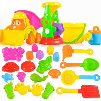 儿童沙滩玩具套装 水枪沙漏决明子沙滩车