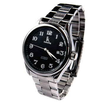 阿帕琦全自动机械表钢表带手表日历时尚机械表百搭简约手表98239G