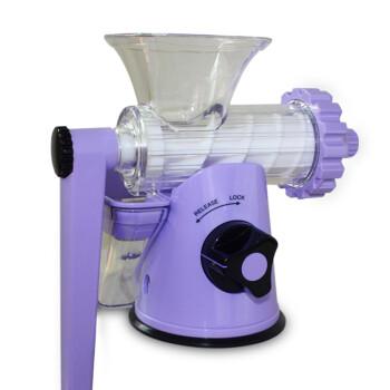 LEXEN手摇式榨汁机果汁机绿之宝小麦草婴儿原汁机 手动婴儿榨汁 小麦草榨汁 紫色