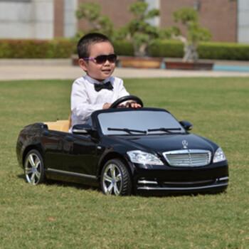 快乐年华奔驰儿童电动车 四轮可坐可遥控童车 电动车遥控汽车 幻影黑