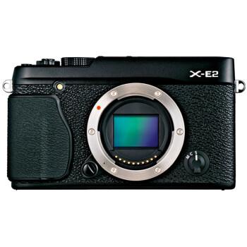 富士(FUJIFILM)X-E2 微单电机身  APS-C 去低通滤镜 WiFi 智能混合AF XE2复古 黑色